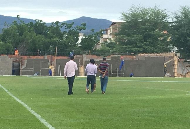 FBF realiza inspeção das obras no Estádio Waldomiro Borges