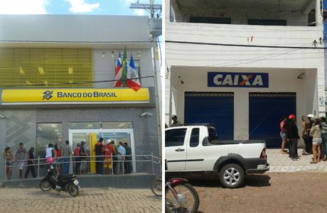 Assaltantes tocaram terror na manhã de segunda, 12, em dois bancos de Barra da Estiva (Foto: Brumado Agora)